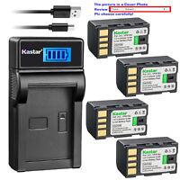 Kastar Battery LCD Charger for JVC BN-VF815U & JVC GC-PX10 GZ-MS130B GZ-MS130BEU