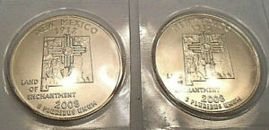 2008 P & D New Mexico Quarter Set (2 Coins)   *MINT CELLO*  **FREE SHIPPING**