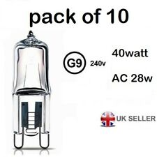 G9 light output 40w ac 28w  Halogen Bulb 350 Lumens 240V Clear Capsule Lamp 10