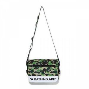 A BATHING APE Men's Shoulder Bag ABC CAMO DOUBLE STRAP BAG Fast Shipping Japan
