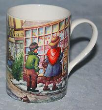 Christmas Mug Queens China Churchill England Children Window Shopping