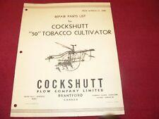 Cockshutt 50 Tobacco Cultivator Dealer's Parts Book