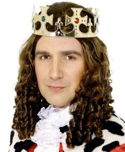 King Fancy Dress Kings Crown & Jewels Adjustable Multi Size New by Smiffys