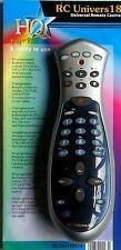 Nuevo Plateado Y Negro 6 En 1 Programable Universal ergonómico Control Remoto