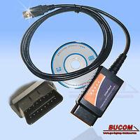 OBD2 Diagnose Interface KFZ Diagnosegerät Fehlerauslesegerät USB CAN Bus E-327
