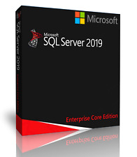 Microsoft SQL Server 2019 Enterprise with 64 Core License, unlimited User CALs