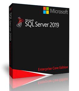Microsoft SQL Server 2019 Enterprise with 16 Core License, unlimited User CALs