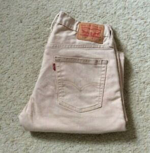 Levis 514 straight leg sand stretch denim mid rise jeans W 32 L 30