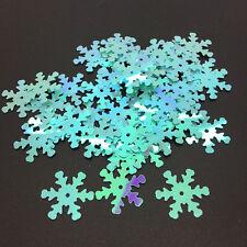 100pcs 18mm Snowflake Loose Sequins Paillettes Sewing Wedding DIY Craft #11