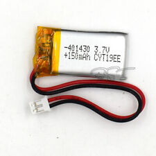 150mAh 3.7V 401430 With Plug Rechargeable Battery Lipolymer For GPS Speaker