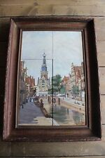 Antique Johannes Christiaan Karel Klinkenberg Framed Porcelain Tile Dutch Art