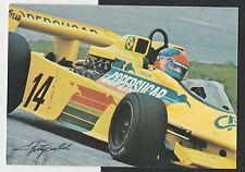 EMERSON FITTIPALDI firmato a mano originale foto cartolina COPERSUCAR SQUADRA CARD