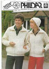 Vintage 1978 Knitwear Family Phildar Double-Knit Knitting Pattern. 17 Designs