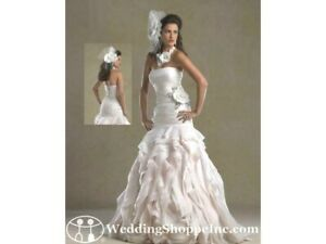 Forever Yours 4985 BRAND NEW Bridal gown Wedding Dress Fit & Flare Blush 8