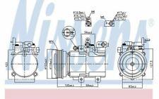 NISSENS Compresseur de climatisation pour HYUNDAI TUCSON KIA SPORTAGE 890130