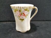 Antique NIPPON Hand Painted Porcelain Floral Gold Trim Coffee Cup
