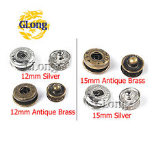 Metal Press Studs Sewing Button Snap Fasteners Sewing Leather Craft Clothes Bags