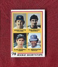 1978 TOPPS #707 ROOKIE SHORTSTOPS PAUL MOLITER ROOKIE SET BREAK NMT+ / NMMT