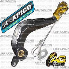 Apico Black Yellow Rear Brake Pedal Lever For Suzuki RM 85 2002 Motocross Enduro