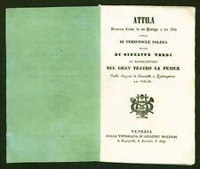 Giuseppe VERDI (Composer): Attila - Rare First Edition Libretto