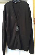 Stylish Men Armani Exchange Cotton Blend Knit Cardigan Size XXL ( XL)New ($ 125)
