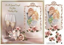 To A Special Couple Wedding Card. Decoupage 1 x A4 Sheet