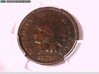 1878 Indian Head Cent PCGS Genuine Env. Damage - F Detail 38491662 Video