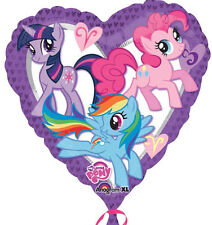 My Little Pony Large Foil Heart Balloon Birthday Party Pretty Purple Pinkie Pie