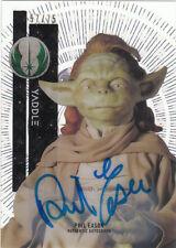2015 Star Wars Tek Tidal Diffractor Auto Autograph Phil Eason as Yaddle SSP /75
