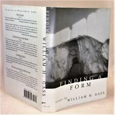 FINDING A FORM, William H. Gass, 1st/1st, 1996 National Book Critic's Award