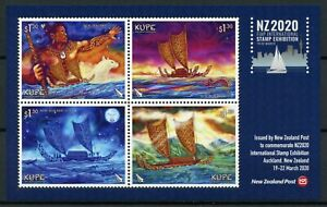 New Zealand NZ Ships Stamps 2020 MNH KUPE NZ2020 Exhibition Cultures 4v M/S
