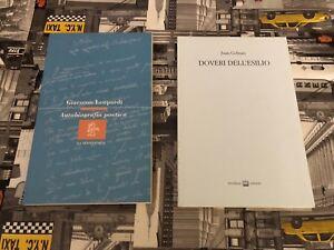 Juan Gelman (Doveri dell'esilio) e Giacomo Leopardi (Autobiografia poetica)