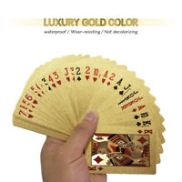 24K Waterproof Gold Foil Plated Pocker Playing Card Joker Gift Table Game