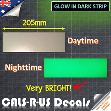 Luminous GREEN glow in the dark safety light sticker tape Very BRIGHT 20.5 x 6cm
