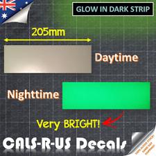 Luminous GREEN glow in the dark safety light sticker tape Very BRIGHT 20.5 x 6cm