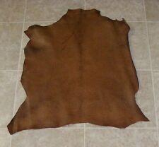 (Oga8029-2) Hide of Brown Reptile Print Lambskin Leather Hide Skin