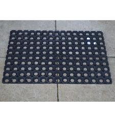 HEAVY DUTY 40X60CM RUBBER RING MAT RUG FRONT DOOR SCRAPER OUTDOOR HALLWAY LARGE