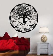 Vinyl Wall Decal Tree Of Life Family Symbol Ornament Fantasy Stickers (1481ig)