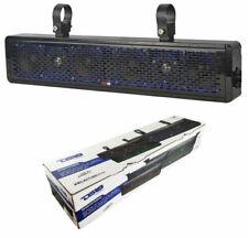 "25"" 2 Way Marine Soundbar Speaker Waterproof UTV ATV Golf Cart RGB LED Lights"