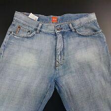 HUGO BOSS HB2 Mens Jeans W34 L34 Light Blue Regular Fit Straight Mid Rise