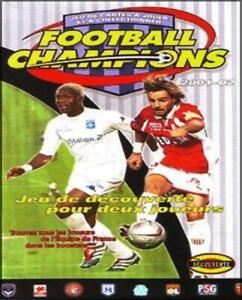SEDAN - CARTE FOOT WIZARDS - FOOTBALL CHAMPIONS 2001 / 2002 - a choisir