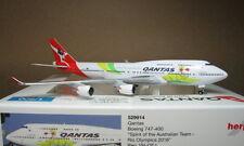 1:500 Herpa Wings Qantas B747-400 VH-OEJ Rio 2016 #529914 Diecast metal plane
