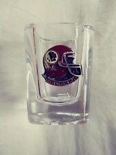 NFL Washington Redskins Football Square Shot Glass With Pewter Helmet Logo