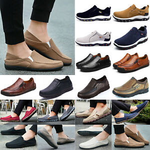 US Men's Moccasins Smart Slip On Driving Shoes Walking Breathable Casual Loafers
