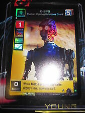 SWCCGYJ CCG YOUNG JEDI REFLECTIONS FOIL MINT SUPER RARE N° 3 C-3PO HUMAN-CYBORG