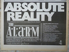 """THE ALARM - ABSOLUTE REALITY UK TOUR DATES 1985, N.M.E. ADVERT PICTURE 11"""" X 8"""""""