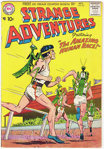 Strange Adventures #85 (DC 1957) The Amazing Human Race! Scans