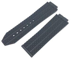 25MM BLACK RUBBER STRAP BAND FOR HUBLOTS BIG BANG 45MM