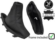 Black Stitch Cuir Véritable Frein à Main Soufflet + cadre en plastique pour BMW X3 E83 03-10