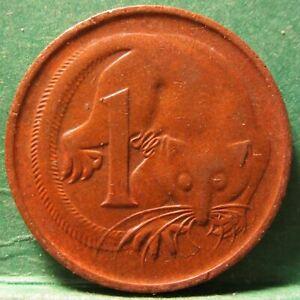 1974 Australia 1c One Cent ** ERROR ROTATED ** BB1807-24